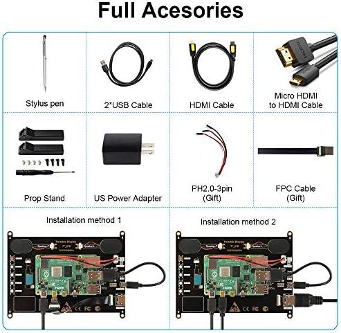 Touchscreen Monitor, EVICIV 7 Inch Portable USB Monitor Raspberry Pi Touch Screen IPS Display Computer Monitor 1024X600 16:9 Game Monitor for Pi 4/3 /2/ Zero/B Raspbian Ubuntu Xbox /PS4 Mac 51nubOJIbmL
