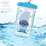 BLU Studio 6.0 HD Blue TRANSPARENT Underwater Protection Touch Responsive Dry Bag Case Cover for BLU Studio 6.0 HD