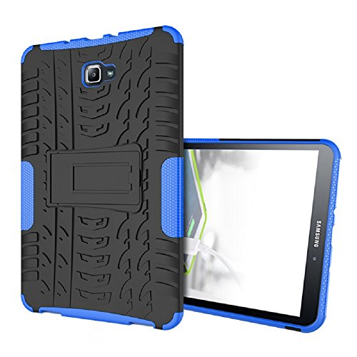 Maomi Samsung Galaxy Tab A 10.1 Case (T580/T585),[Kickstand Feature],Shock-Absorption/High Impact Resistant Heavy Duty Armor Defender Case for Samsung Galaxy Tab A 10.1 inch 2016 Tablet (Blue)