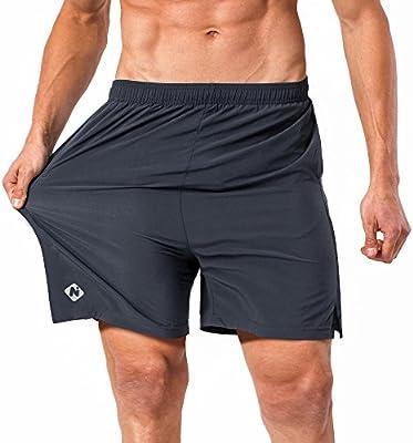 NAVISKIN Pantalones Cortos para Hombres Deporte Secado Rápido con ...