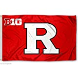 Our RU Scarlet Knights Big 10 3x5 Flag measures 3x5 feet in size, has quadruple-stitched fly ends, is made of durable polyester, and has two metal grommets for attaching to your flagpole. The screen printed Rutgers logos are Officially Licens...