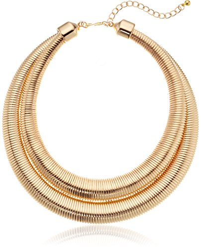 Kenneth Jay Lane Gold 2 Row Collar Necklace, 18