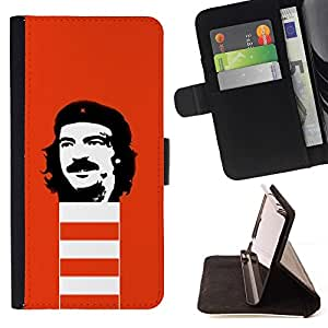 DEVIL CASE - FOR Apple Iphone 5C - Funny Rebel Face - Style PU Leather Case Wallet Flip Stand Flap Closure Cover