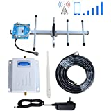 Phonelex Cell Phone Signal Booster Verizon 4G LTE Mobile Phone Signal Booster Amplifier Verizon Cell Signal Booster Repeater Band13 700Mhz FDD with Whip and Yagi Directional Antenna Kits for Home use
