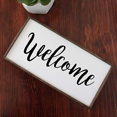 Welcome Rustic Farmhouse Wooden Sign 12