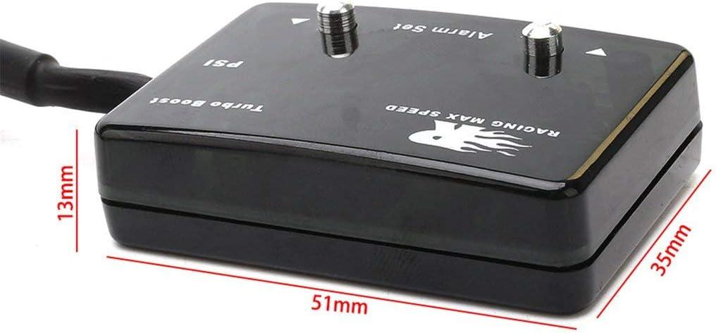 14 ~ 40 PSI Aufgeladenes Instrument Aufgeladenes Thermometer Candybarbar CNSPEED Blaulicht-Digital-Ladedruckanzeige Auto Booster Table