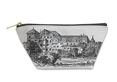 Gear New Accessory Zipper Pouch, Stuttgart The Former Palace Vintage Engraving, Small, 5834896GN (Palace Engraving)