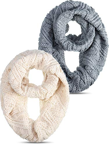 2 Pieces Knit Infinity...