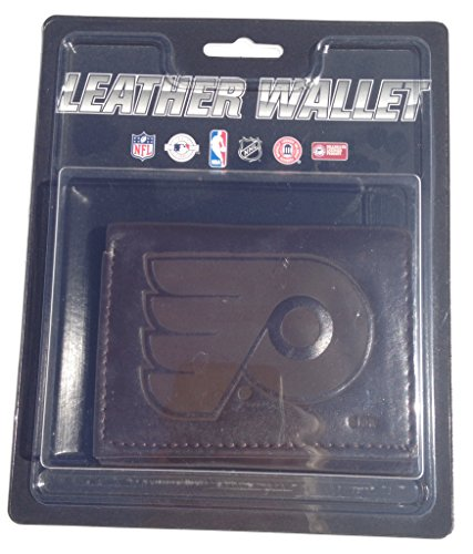 NHL Philadelphia Flyers Tri-Fold Leather Wallet, Brown ()