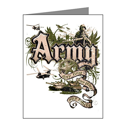 Officer Greeting Cards (Greeting Card US Army Any Time Any Place Any)