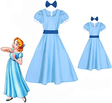 CHANGL Wendy Darling Vestido Peter Pan Disfraces de Cosplay Chica ...
