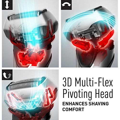 Panasonic ES-LT7N-S Arc 3-Blade Electric Shaver System Premium Automatic Clean and Charge Station, Active Shave Sensor Technology, Wet or Dry Operation Bundle with Grooming Kit