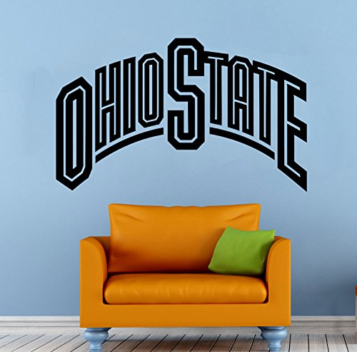 NCAA Ohio State Wall Decal Vinyl Sticker College Football Home Interior Removable Decor (22