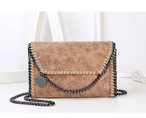 Amazon.com: Wyhui New Women Message Pu Fashion Portable 2 Chains Woven Shoulder bolsa feminina carteras/mujer handbags Khaki one size: Home & Kitchen
