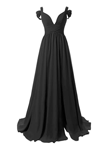 Dressytailor Women's Sweetheart Off-the-shoulder Long Chiffon Bridesmaid Dress Evening Gown