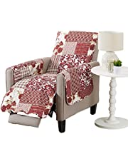 Patchwork Scalloped Stain Resistant Printed Furniture Protector. by Great Bay Home Brand.