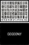 Gogoonly Nail Art Stamp Plate Collection St. Holly - Huge Size Stamping Image Plates Manicure Nail Designs DIY - BH000574