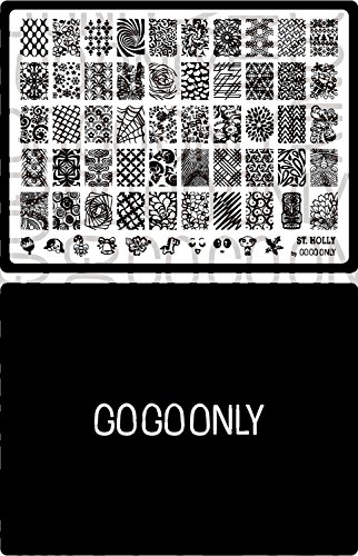 Gogoonly Nail Art Stamp Plate Collection St. Holly - Huge Size Stamping Image Plates Manicure Nail Designs DIY - BH000574]()