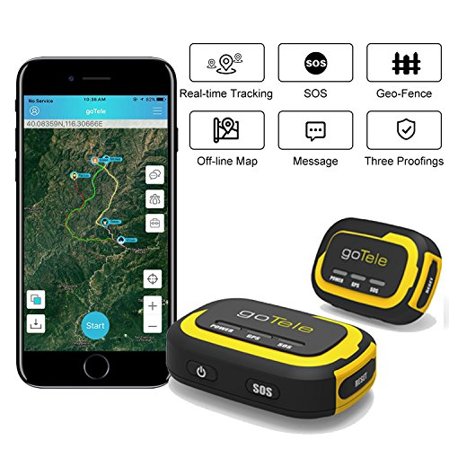 goTele GPS Tracker, No Monthly Fee No Network Required Mini Portable Off-grid Real Time GPS Tracking Device for Outdoor Hiking, Hunting, Kids and Pets Tracker (2 Pack) (Best App For Sending Group Texts)