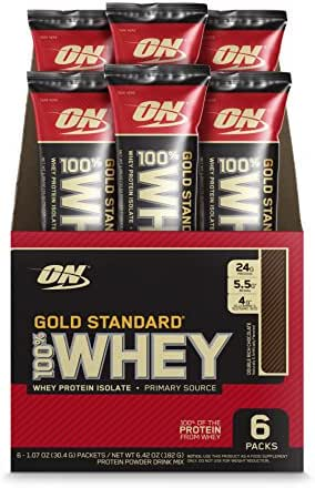 Protein & Meal Replacement: Optimum Nutrition Gold Standard Whey Individual Stick Packs
