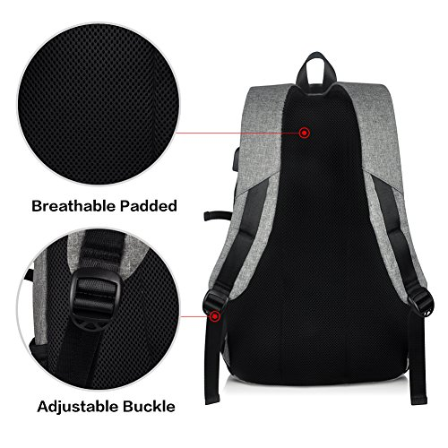 High School Backpack, 15.6'' College Business Travel Laptop Backpack by EASTERN TIME by EASTERN TIME (Image #5)