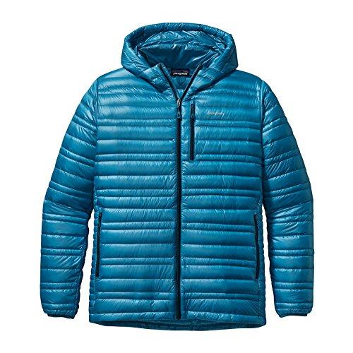 Ripstop Hooded Down Jacket (Patagonia Ultralight Hooded Down Jacket - Men's Underwater Blue,)