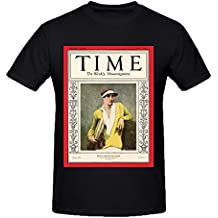NIWAHO Personalized Helen Wills Moody poster T shirts Cotton Round Collar Men Black