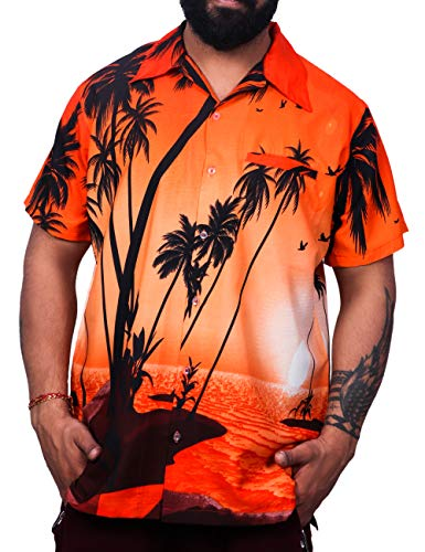 Virgin Crafts Hawaiian Shirt Boy Girl Palm Beach Holiday Party Orange Medium]()