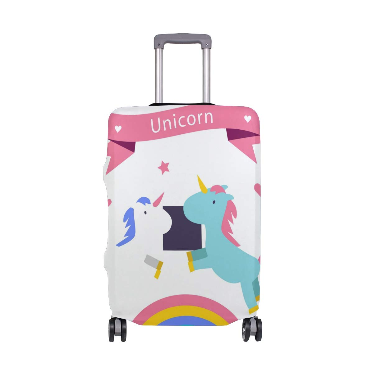 GIOVANIOR Love Rainbow Unicorn Luggage Cover Suitcase Protector Carry On Covers