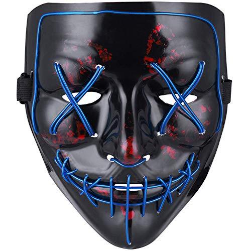 MeiGuiSha LED Halloween Purge Mask,Halloween Scary Cosplay Light
