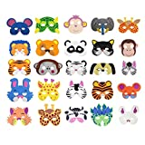 COSORO 25 Kids Eva Foam Animal Masks for Party Bag Fillers,Masquerade,Birthday Party,Christmas,Halloween