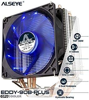 Amazon.com: ALSEYE CPU Cooler PC Disipador de calor con 4 ...