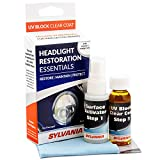 SYLVANIA - Headlight Restoration UV Block Clear Coat - Most Important Step to Restore Damaged Headlights, Surface Activator, UV Protection for Clearer Headlights - 1 Fl Oz