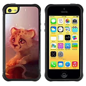 """Hypernova Defender Series TPU protection Cas Case Coque pour Apple iPhone 5C [Lindo guepardo Guepardo lindo Cub""""]"""