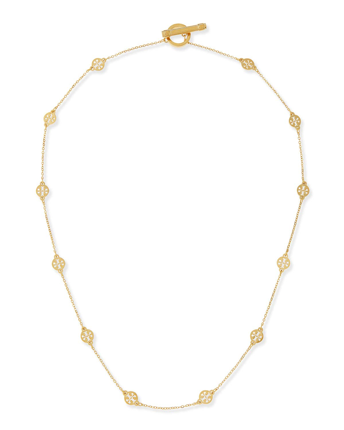 Tory Burch 50681 Gold Tone Logo Toggle Short Necklace