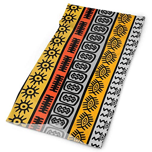 Unisex Pattern with Ethnic African Motifs Double Sided Print Variety Scarf Headbands Bandana Magic Headband Elastic Seamless Bandana Headwear Head Scarf