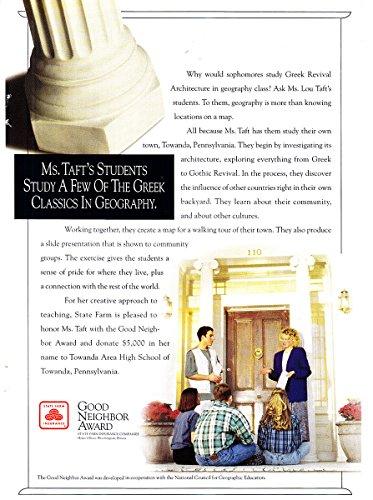 1994 State Farm Insurance  Ms Tafts Students  State Farm Insurance Print Ad