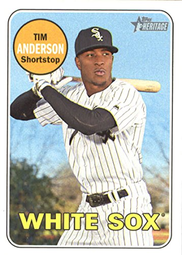 2018 Topps Heritage #152 Tim Anderson Chicago White Sox Baseball Card
