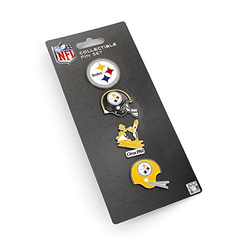 Pittsburgh Helmet Throwback Steelers (NFL Pittsburgh Steelers Logo Evolution 4 Pin Set)