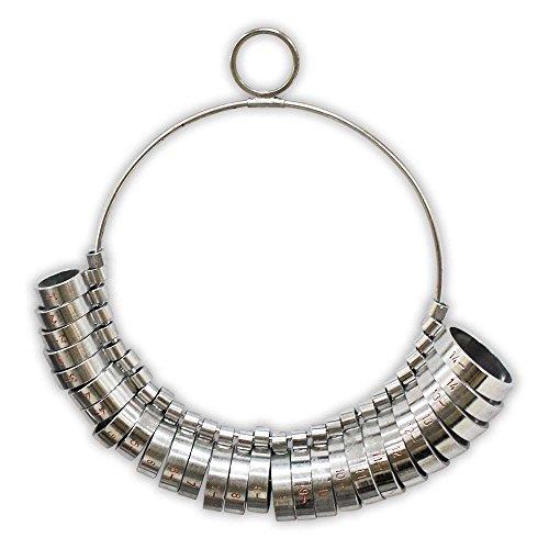 (HAWK 1-15 Ring Sizing 29 Piece Wide Band Set - TJ9755)