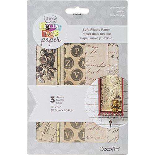 deco-art-decoupage-paper-3-pack-12-by-16-olde-worlde