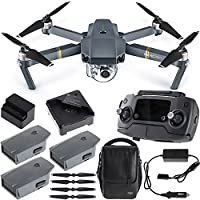 DJI Mavic Pro Quadcopter Drone Combo Pack with 4K Camera and Wi-Fi + Extra Battery Bundle