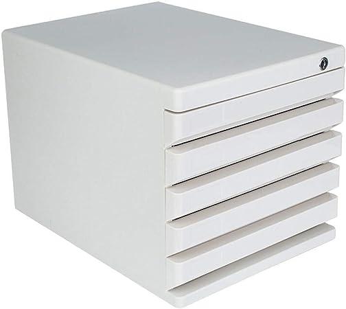 LHQ Gabinete para Archivos De Escritorio Cajón De 5 Capas Caja De Almacenamiento De Documentos De Office con Cerradura Gabinetes De Archivo De Datos De Múltiples Capas Gabinetes para Archivos Planos: Amazon.es: