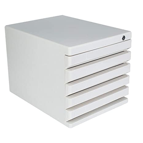 Amazon.com: Desktop File Cabinet 5 Layer Drawer Lockable ... on