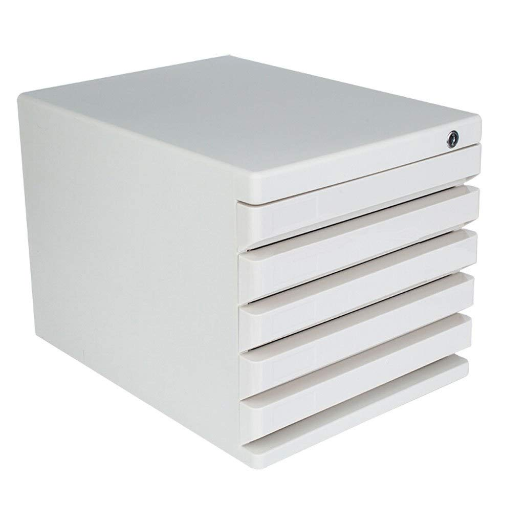Desktop File Cabinet 5 Layer Drawer Lockable Office Document Storage Box Multi-Layer Data Filing Cabinets Flat File Cabinets