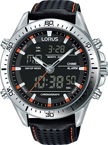f8d4c11fd Lorus Men's Analog-Digital Quartz Watch with Leather Strap RW637AX9:  Amazon.ca: Watches