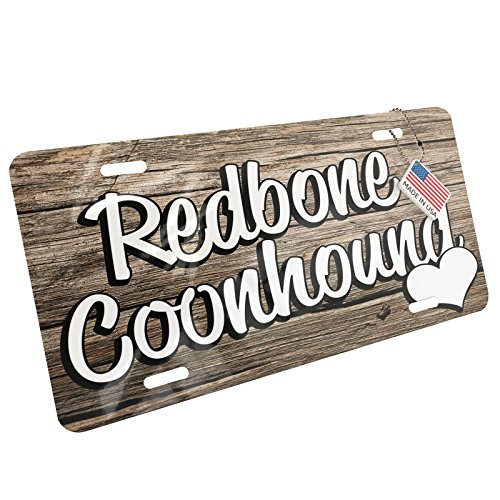 NEONBLOND Metal License Plate Redbone Coonhound, Dog Breed United States - Breed Coonhound Dog