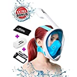 Snorkel Mask Full Face for Kids and Adults