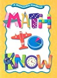 Math to Know, Mary C. Cavanagh, 0669535974