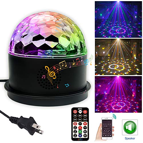 Disco Ball Party Lights GOOLIGHT Bluetooth Speaker LED Magic Ball Colorful Mirror Ball Disco Lights Sound Activated Strobe Light for Home Party Gift Kids Birthday Dance Bar Xmas Wedding Show Club ()